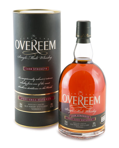 Overeem 2016 Cask Strength Port Cask Matured 60% Tasmanian Single Malt Whisky OHD-117 - Historic