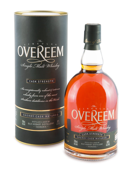 Overeem 2013 Cask Strength Sherry Cask Matured 60% Tasmanian Single Malt Whisky OHD-042 - Historic
