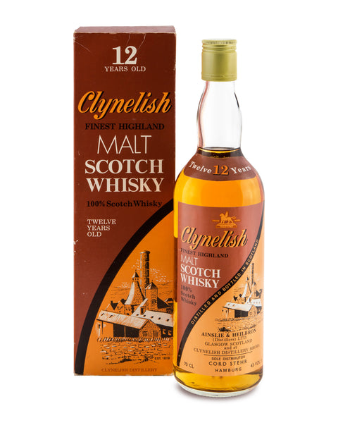 Clynelish 12 Years Old Finest Highland Malt 1980's
