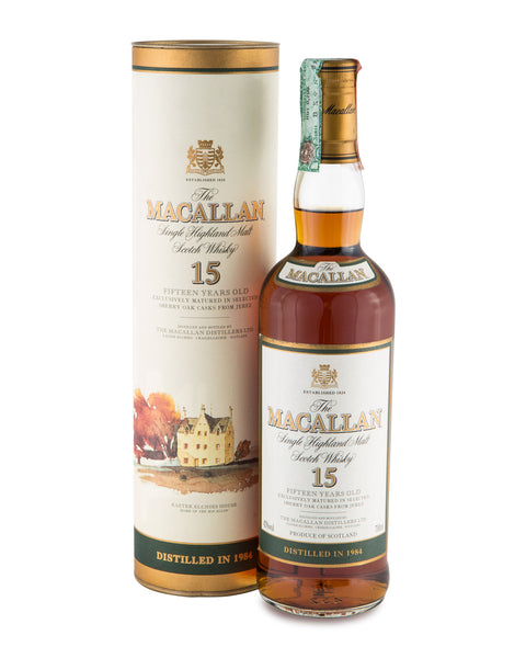 Macallan 1984 15 Years Old Single Highland Malt (with tube)