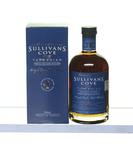 Sullivans Cove French Oak Cask Matured Tasmanian Whisky bottled 2014 - Historic