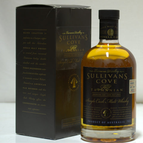 Sullivans Cove 2000 Bourbon Cask No HH0261 Tasmanian Single Malt Whisky - Historic