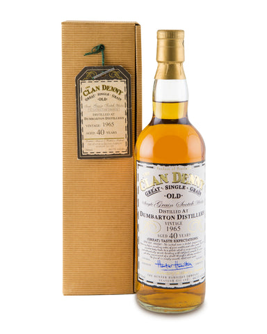 Dumbarton 1965 40 Years Old Single Grain Whisky by Clan Denny