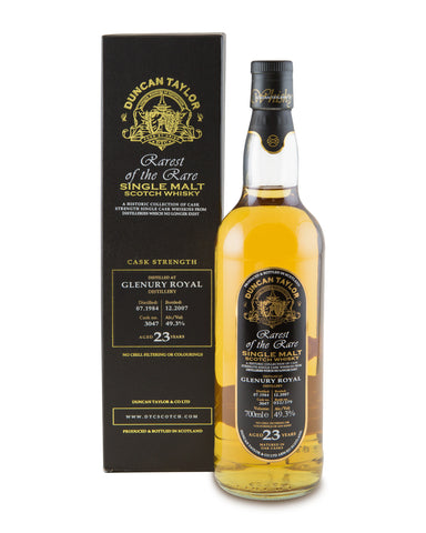 Glenury Royal 1984 23 Years Old Cask No 3047 Single Highland Malt Rarest of the Rare by Duncan Taylor