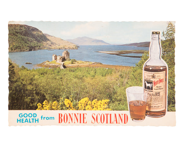 "White Horse ""Bonnie Scotland"" Advertising Postcard"
