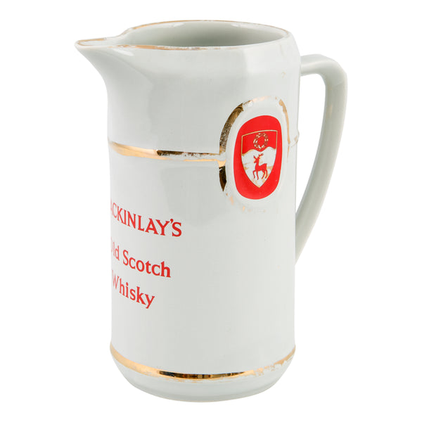 Mackinlay's Old Scotch Whisky water jug 1980s