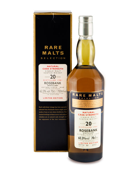 Rosebank 1981 20 Years Old Rare Malts