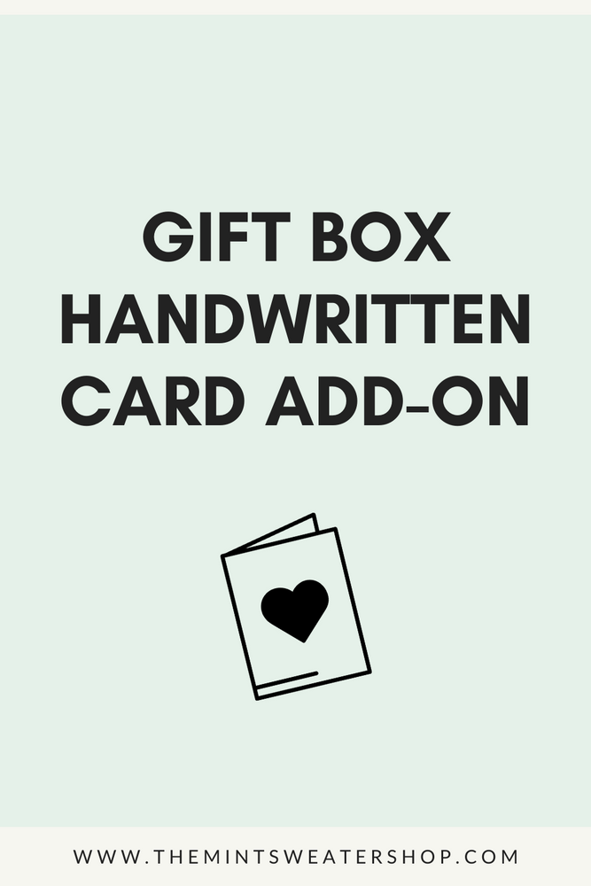 Gift Box Handwritten Card Add-On