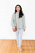 The Adrienne Nichole- Mint Sweater with Tie Lace Back