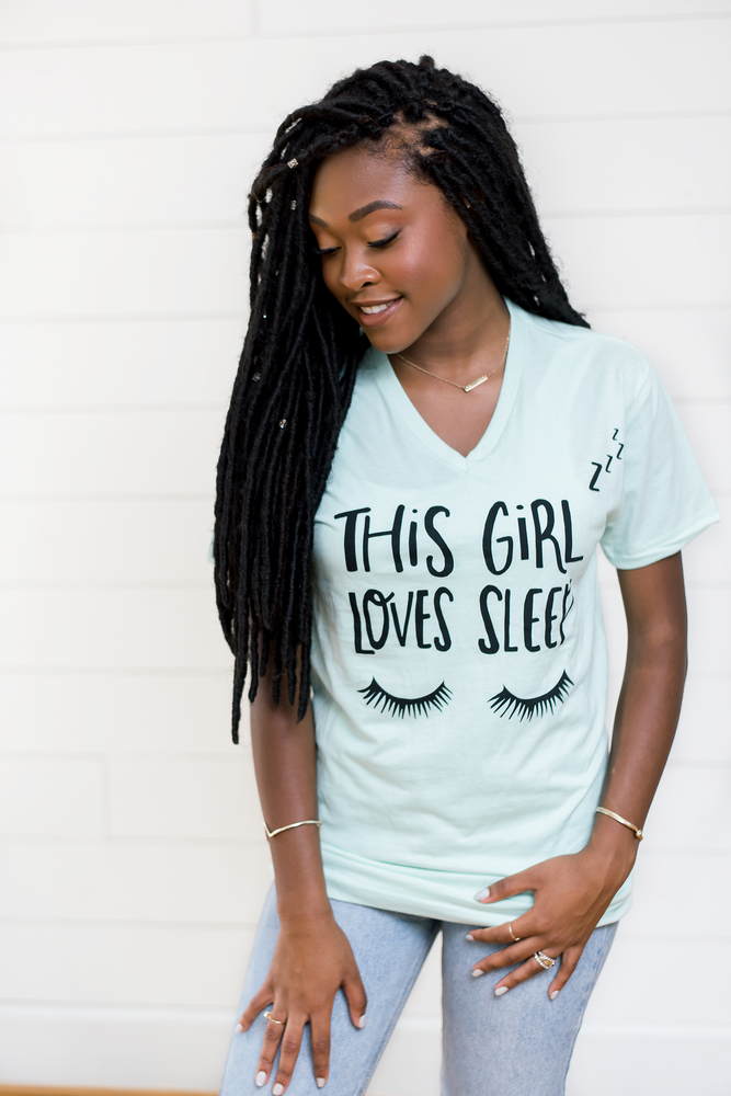 *LIMITED EDITION* Loves Sleep- Mint Graphic Tee