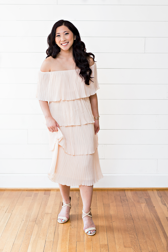 The Jen Ann- October Breast Cancer Awareness Specialty Blush Dress