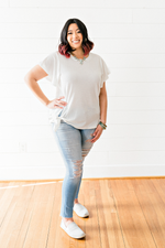 The Krystal Diane- Knit Top with Knot- PLUS SIZE