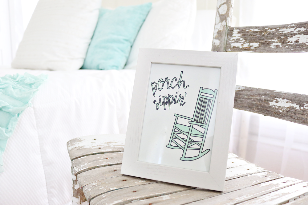 Porch Sippin' Print