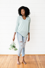 The Mint Sweater- Mint Long-Sleeve Lightweight Top