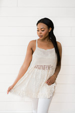 The Nija Sym- Natural Lace Cami Top