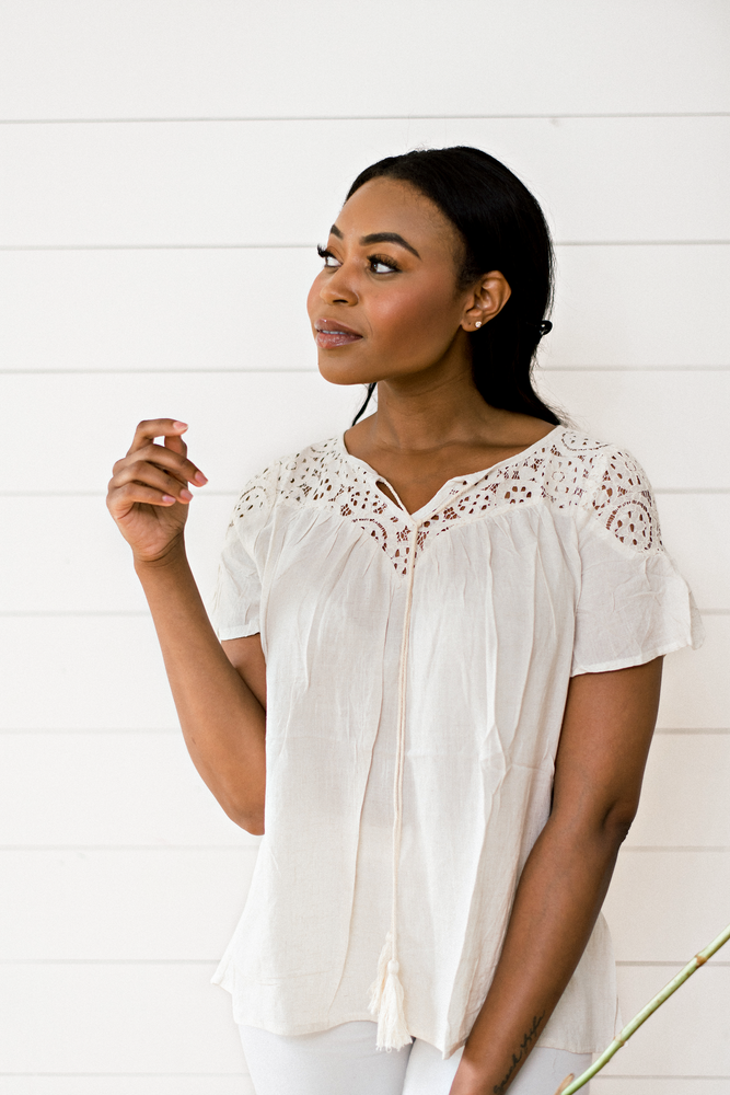 The Bethanne Arthur- Oatmeal Tassel Top