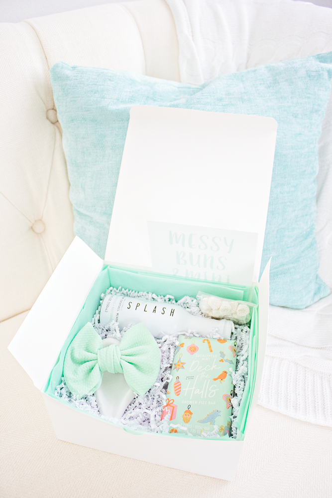 Messy Bun + Mint Bows- Curated Gift Box