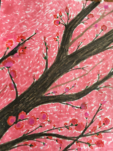 "Cherry Blossom - Glossy Finish - 5.5"" x 4""- Portrait Orientation"