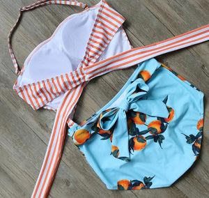 Tangerine Cutout One-Piece