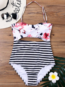 Hibiscus Cutout One-Piece