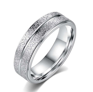 Frosted Titanium Steel Ring