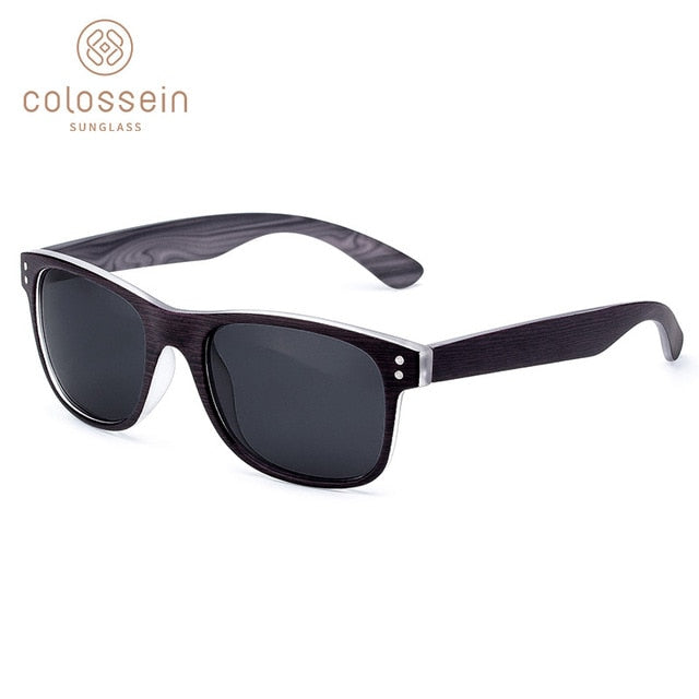 Mens Faux Wood Sunglasses