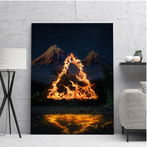 Triangle of Fire Canvas Set