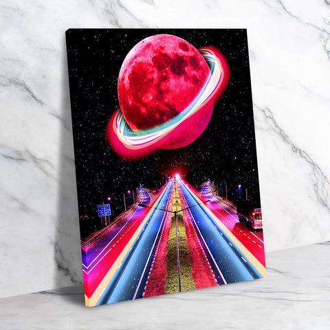 Neon Galaxy Canvas Set