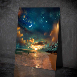 Beach by Starlight Canvas Set