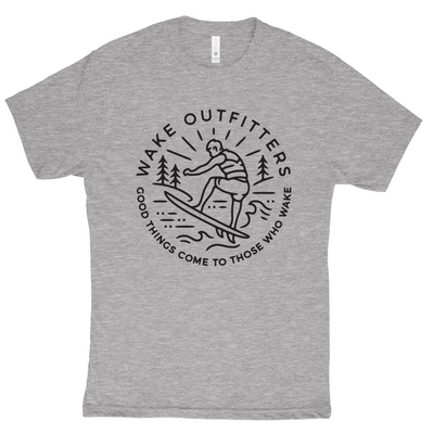 Wakesurfer Mens Tee - Grey Heather