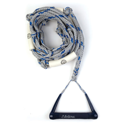 Follow Wakesurf Rope and Handle - Blue/Grey 2019