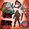 Heavy Metal Kiss Cut Sticker Sheet