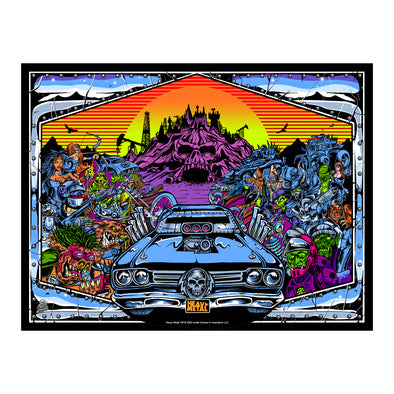 Heavy Metal 'Burning Chrome' Art Print By Dirty Donny