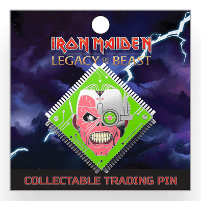 Iron Maiden : Legacy of the Beast Lapel Pin - Cyborg Eddie