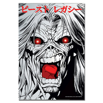 Iron Maiden : Legacy of the Beast Face Print (Mirrored Foil)