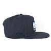 Heavy Metal Chrome Logo Navy Snapback Hat