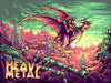'Heavy Metal' Regular Edition Silk Screen Art Print - by artist Dan Mumford