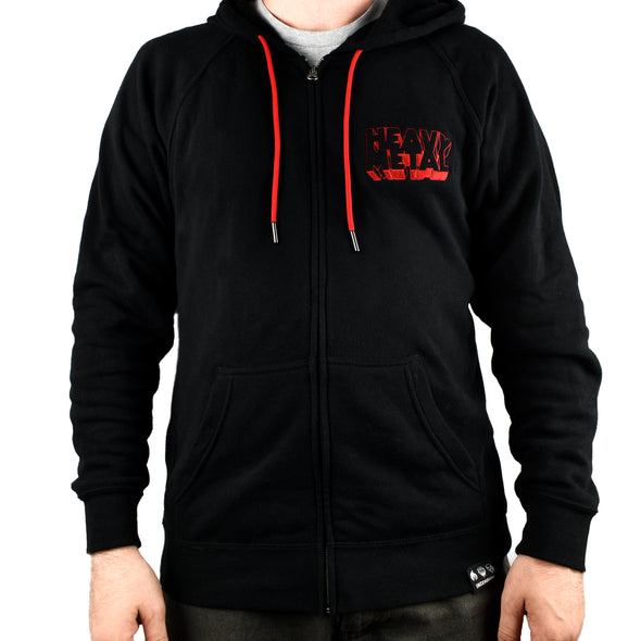 Heavy Metal 'Planet' Zip Up Hooded Sweatshirt