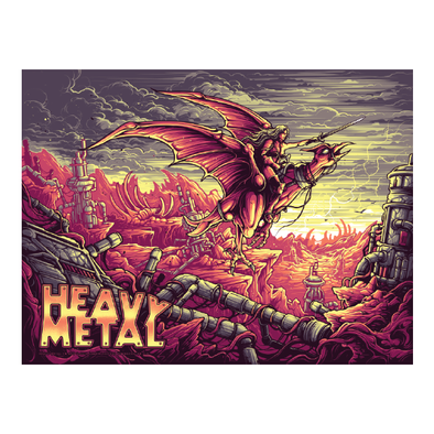 'Heavy Metal' Variant Edition Silk Screen Art Print - by artist Dan Mumford