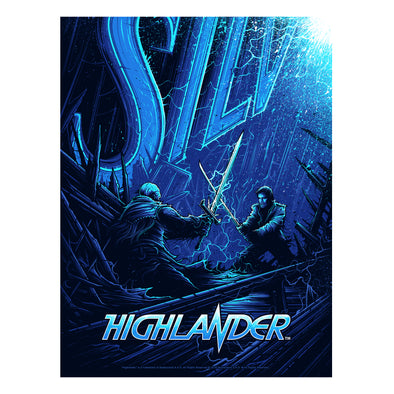 'There Can Be Only One' Regular Edition Silk Screen Art Print - by artist Dan Mumford