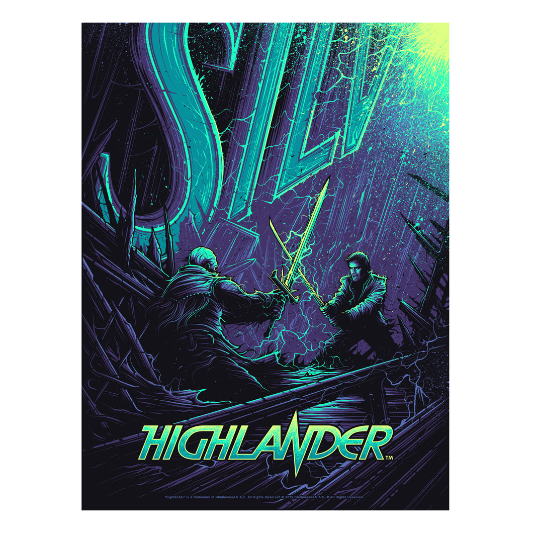 'There Can Be Only One' Variant Edition Silk Screen Art Print - by artist Dan Mumford