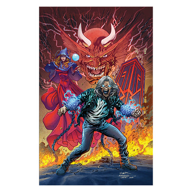 Iron Maiden Legacy of the Beast 2018 SDCC Signed Print