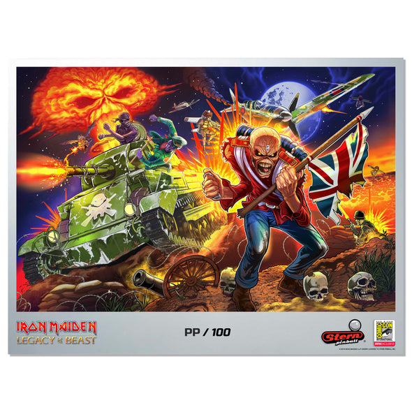 Stern Pinball Limited Edition Iron Maiden Printer's Proof Art Print