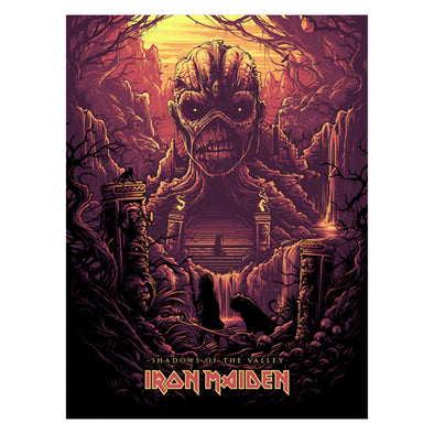 'Shadows of the Valley' Variant Silk Screen Art Print - by artist Dan Mumford
