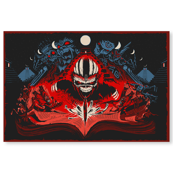 'Book of Souls' Silk Screen Art Print - by artist Adam Ford
