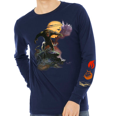 Frazetta Halloween Wolfman Long Sleeve T-shirt