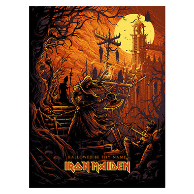 'Hallowed Be Thy Name' Silk Screen Variant Art Print - by artist Dan Mumford