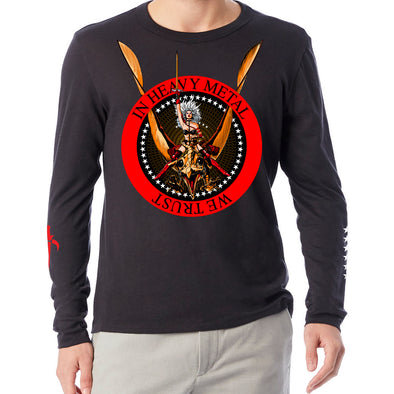 Heavy Metal 'In Heavy Metal We Trust' Long Sleeve T-shirt