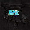 Heavy Metal Logo Anodized Lapel Pin
