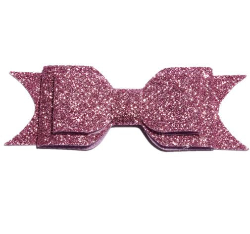 Large Glitter Bow Clip - Pink